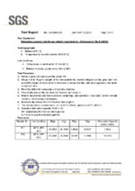 SGS Adsorption Test Report